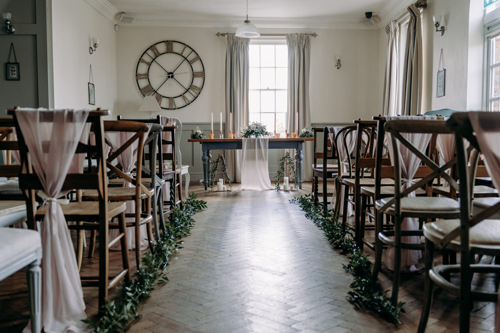 Aisle Ceremony Decor Flowers Greenery Foliage Free Spirited Wedding Ideas EKR Pictures