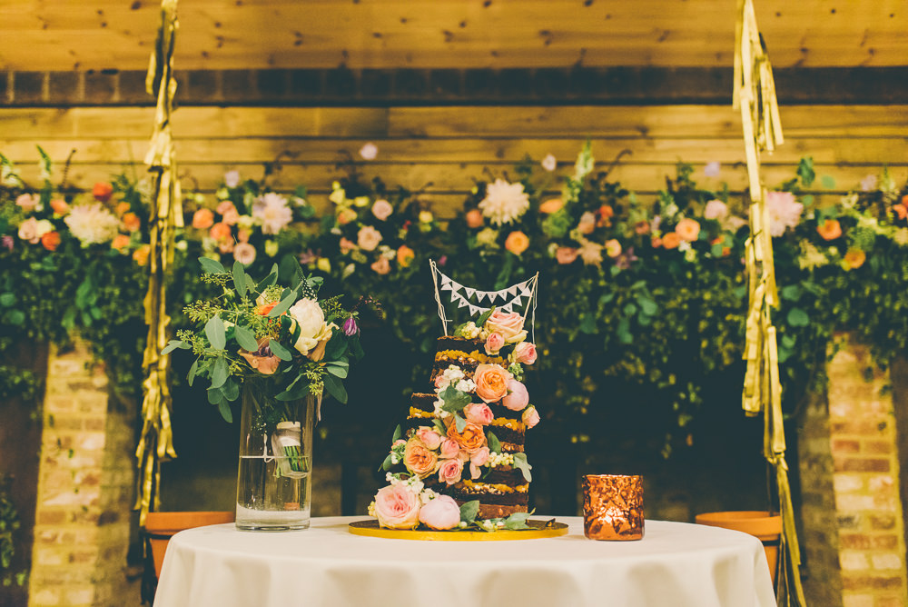 Fireplace Flowers Arrangement Floral Installation Greenery Foliage Peach Dahlia Rose Decor Decoration Backdrop High Billinghurst Farm Wedding Larissa Joice Photography