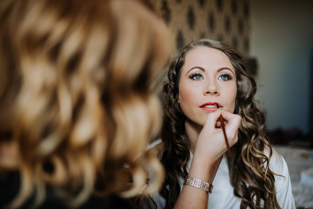 Bride Bridal Make Up Hirst Priory Wedding Kazooieloki Photography