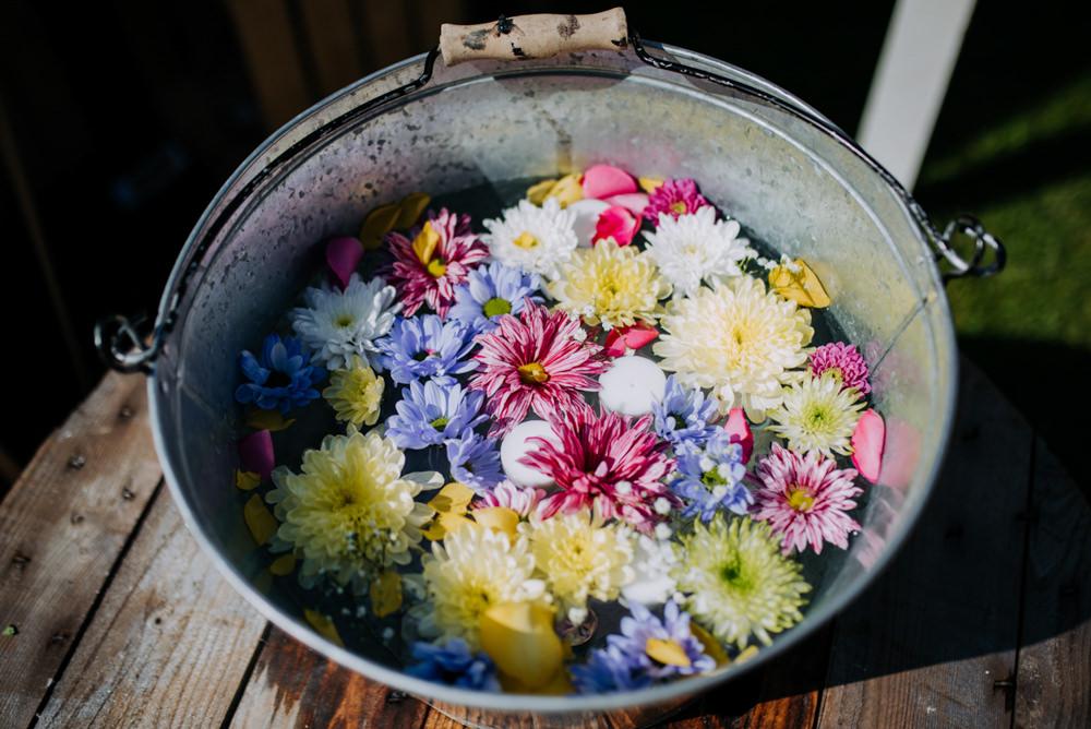 Flower Confetti Bucket Hirst Priory Wedding Kazooieloki Photography