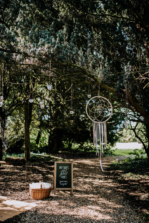 Dreamcatchers Decor Woodland Hirst Priory Wedding Kazooieloki Photography