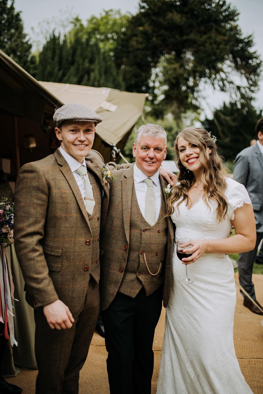 Groom Groomsmen Waistcoats Flat Cap Brown Tweed Suit Hirst Priory Wedding Kazooieloki Photography