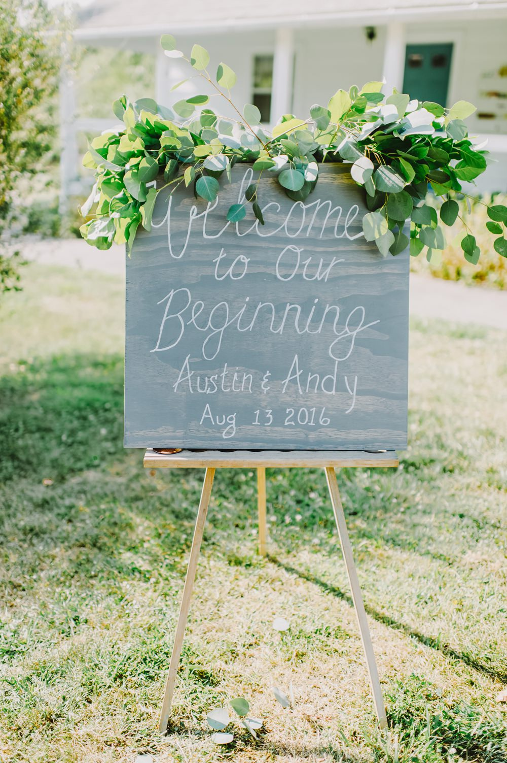Chalk Board Sign Calligraphy Welcome Signs Maryland Wedding L. Hewitt Photography