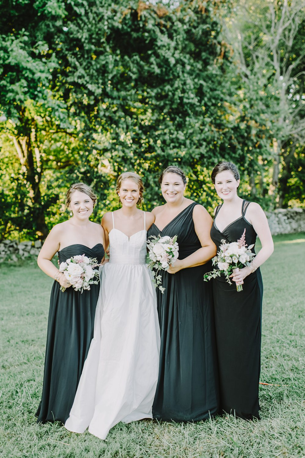 Long Black Bridesmaid Dress Dresses Bridesmaids Maryland Wedding L. Hewitt Photography