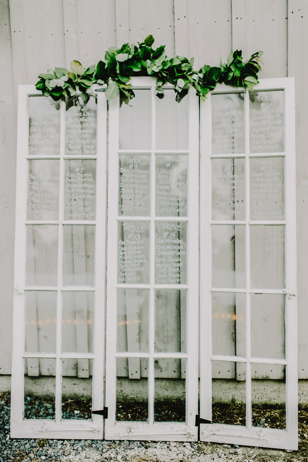 Window Glass Seating Plan Table Chart Greenery Maryland Wedding L. Hewitt Photography
