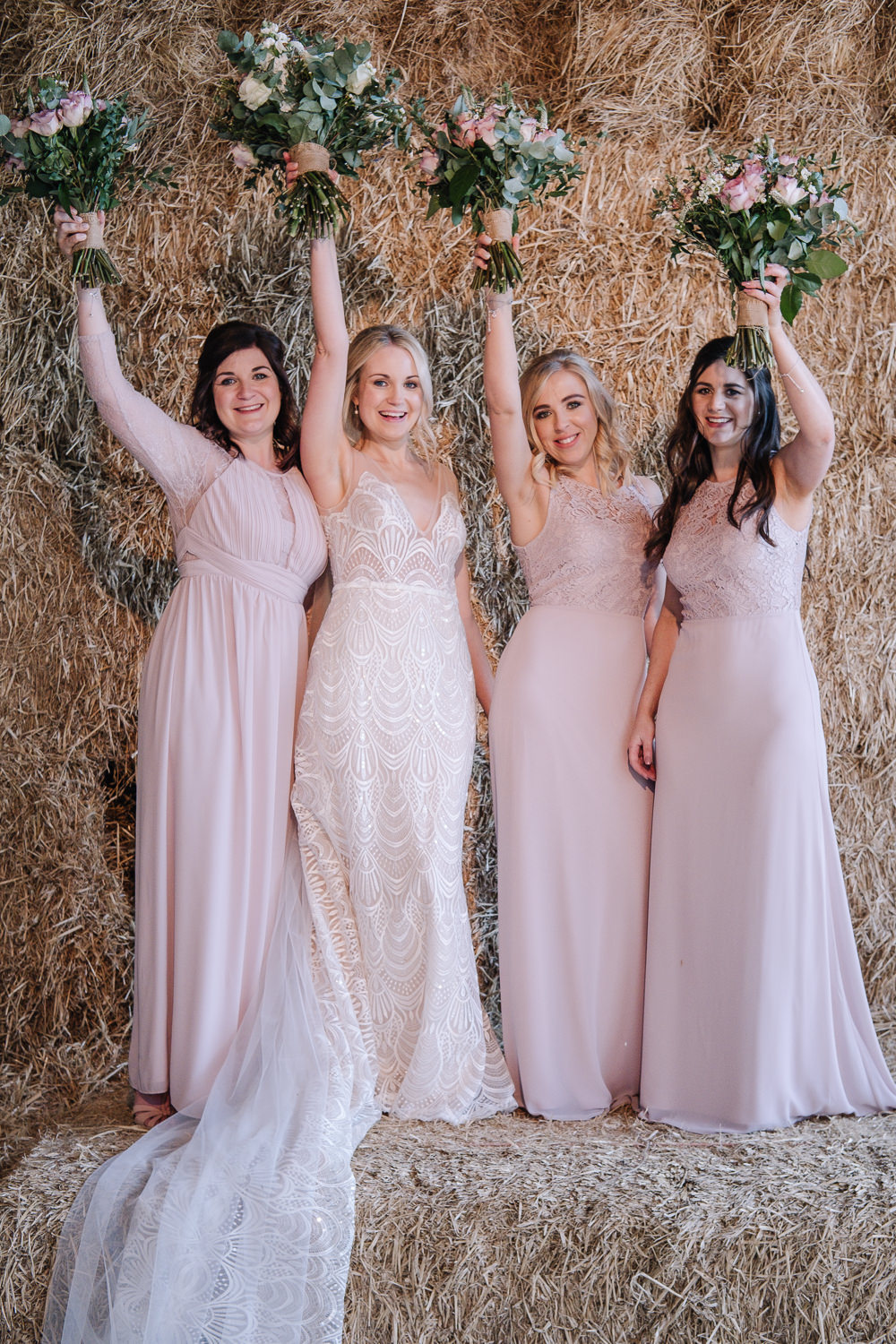 Pink Bridesmaid Bridesmaids Dress Dresses Owen House Wedding Barn Nessworthy Photography