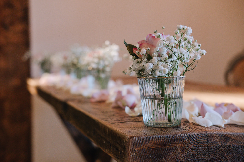 Flowers Decor Jars Owen House Wedding Barn Nessworthy Photography