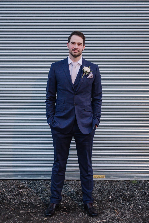 Groom Groomsmen Suits Navy Blue Owen House Wedding Barn Nessworthy Photography