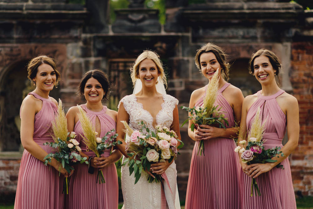 Pink Halterneck Dress Dresses Bridesmaid Bridesmaids Romantic Elegant Wedding MIKI Studios