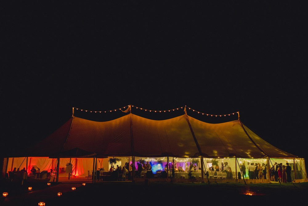Sperry Tent Marquee Lights Lighting Romantic Elegant Wedding MIKI Studios
