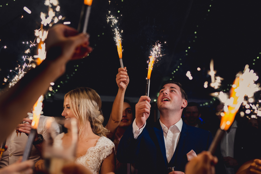 Sparklers Romantic Elegant Wedding MIKI Studios