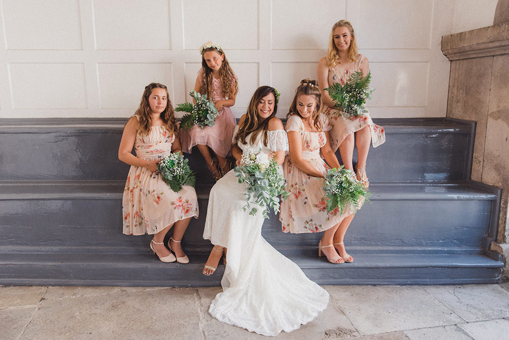 Bridesmaid Bridesmaids Dress Dresses Pink Floral Rye Wedding Rebecca Douglas Photography