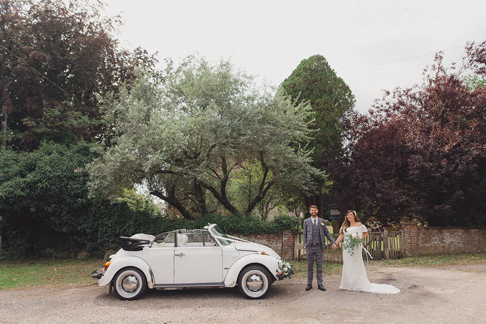 VW Beetle Car Transport Rye Wedding Rebecca Douglas Photography