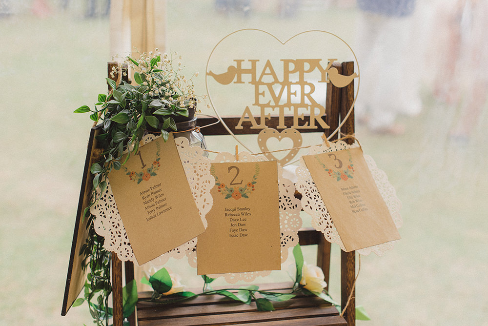 Seating Plan Table Chart Peg Twine Lace Doily Rye Wedding Rebecca Douglas Photography