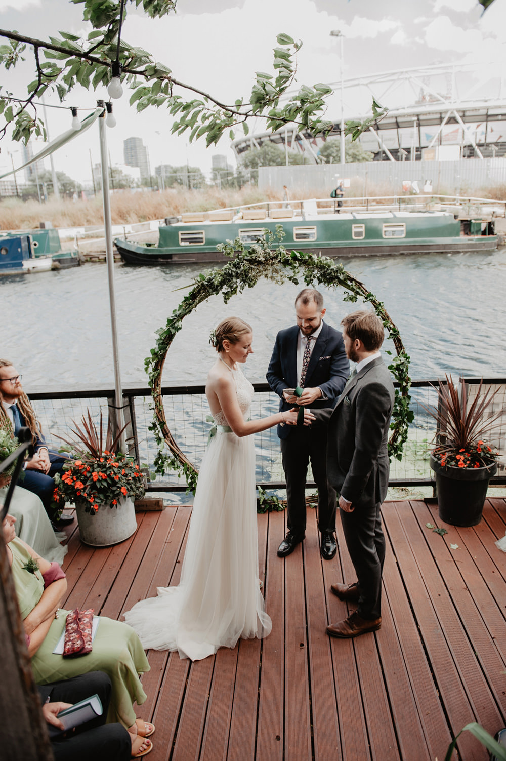 Greenery Foliage Moongate Arch Backdrop Ceremony Aisle Stour Space Wedding Anne Schwarz Photography