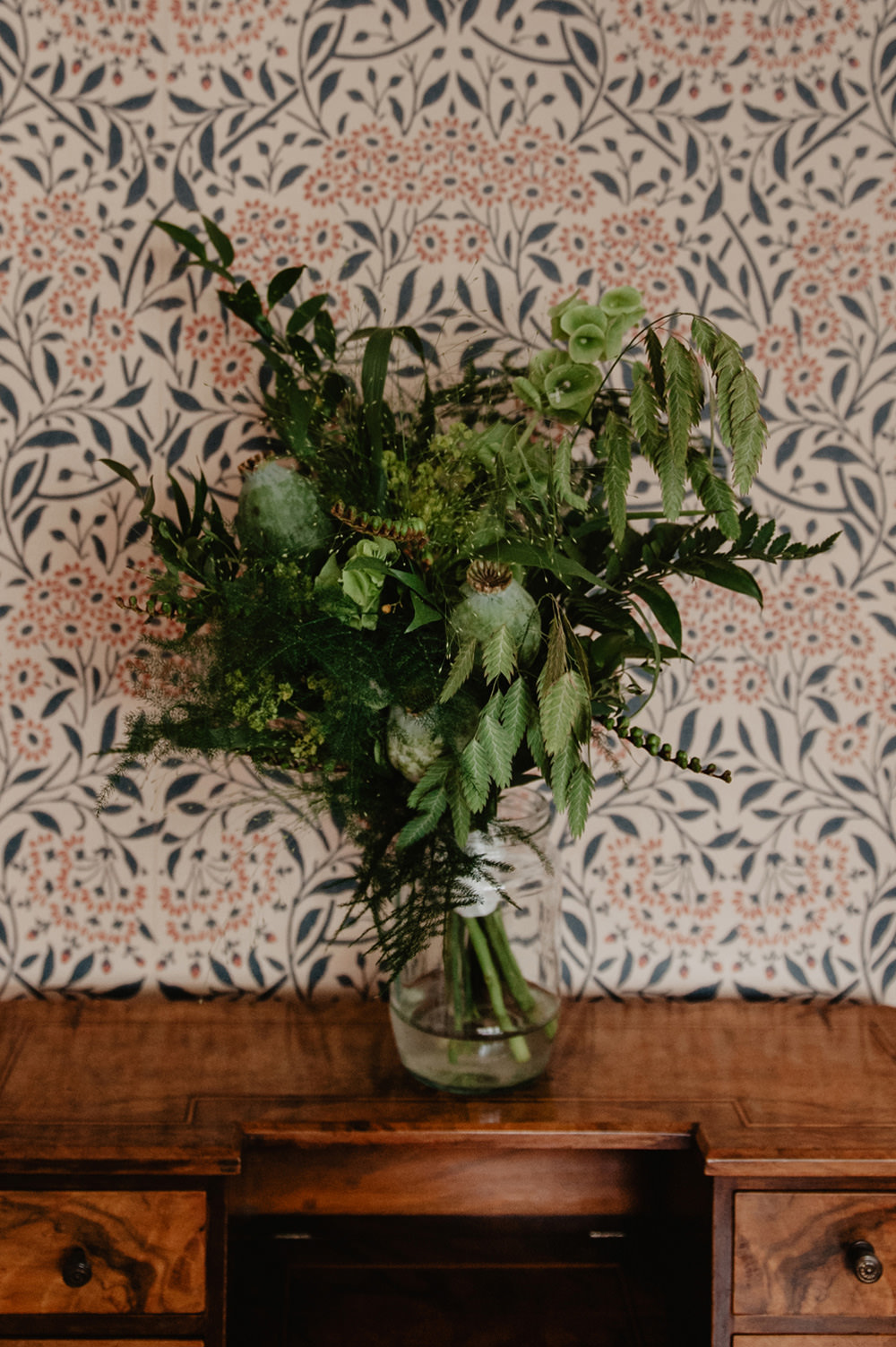 Bouquet Flowers Bride Bridal Greenery Foliage Stour Space Wedding Anne Schwarz Photography