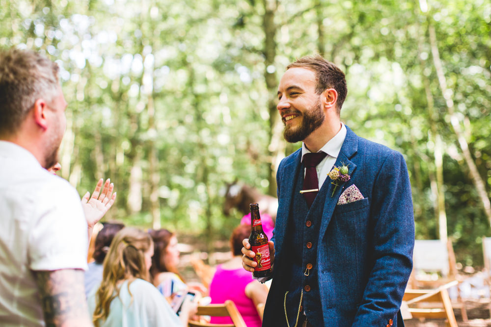 Three Piece Tweed Groom Wise Wedding Venue Livvy Hukins Photography