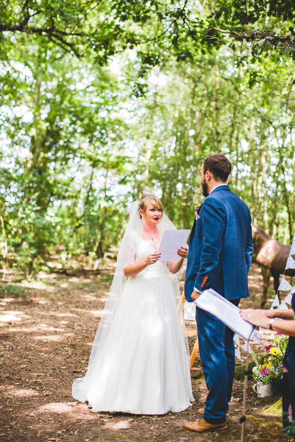 Bride Bridal Dress Gown V Neck Lace Sleeve Layered Veil Three Piece Tweed Groom Wise Wedding Venue Livvy Hukins Photography