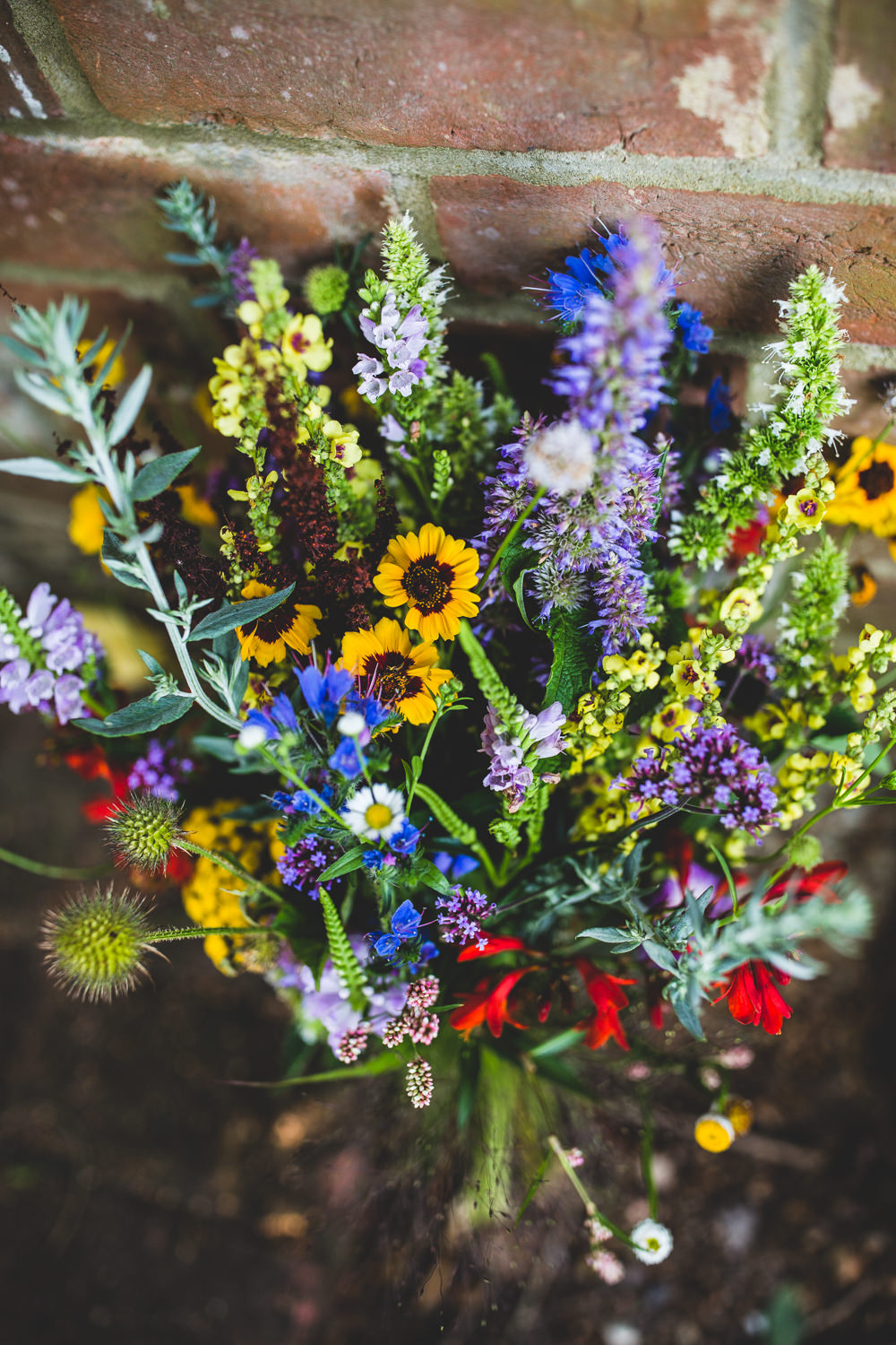 Wildflower Multicoloured Bouquet Bride Bridal Meadow Wise Wedding Venue Livvy Hukins Photography
