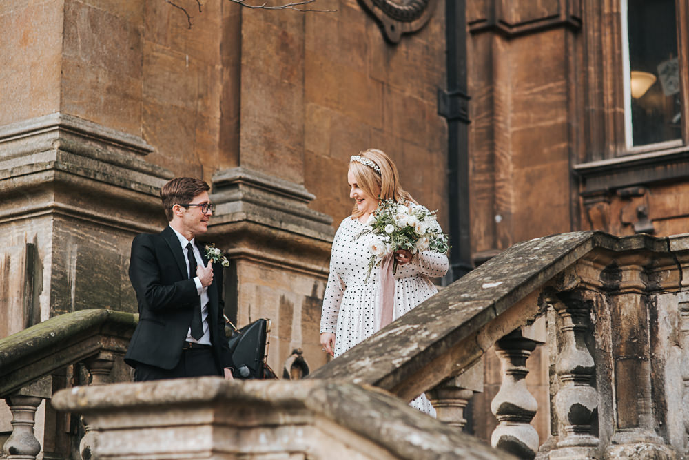 First Look Wollaton Hall Wedding Pear and Bear Photography