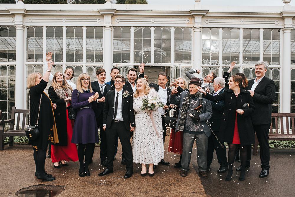 Confetti Wollaton Hall Wedding Pear and Bear Photography