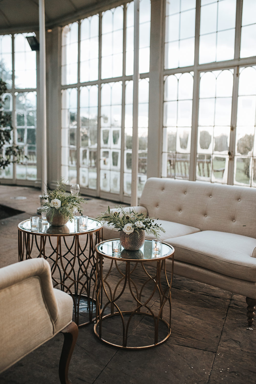Seating Area Wollaton Hall Wedding Pear and Bear Photography