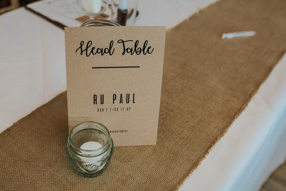 Table Name Ru Pal Rustic Burlap Hessian Top Aston Marina Wedding Photography By Charli