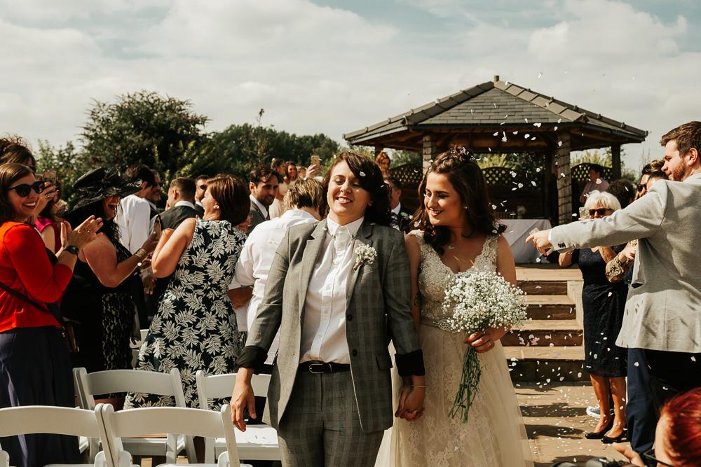 Bride Bridal V Neck Lace Dress Sleeveless Suit Gypsophila Buttonhole Confetti Aston Marina Wedding Photography By Charli