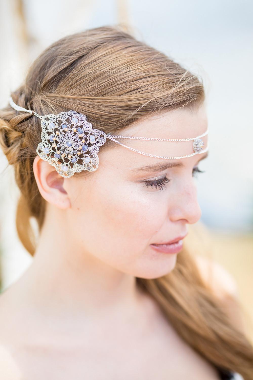 Bride Bridal Forehead Jewellery Band Accessory Hair Boho Beach Wedding Ideas Sarah Hoyle Photography