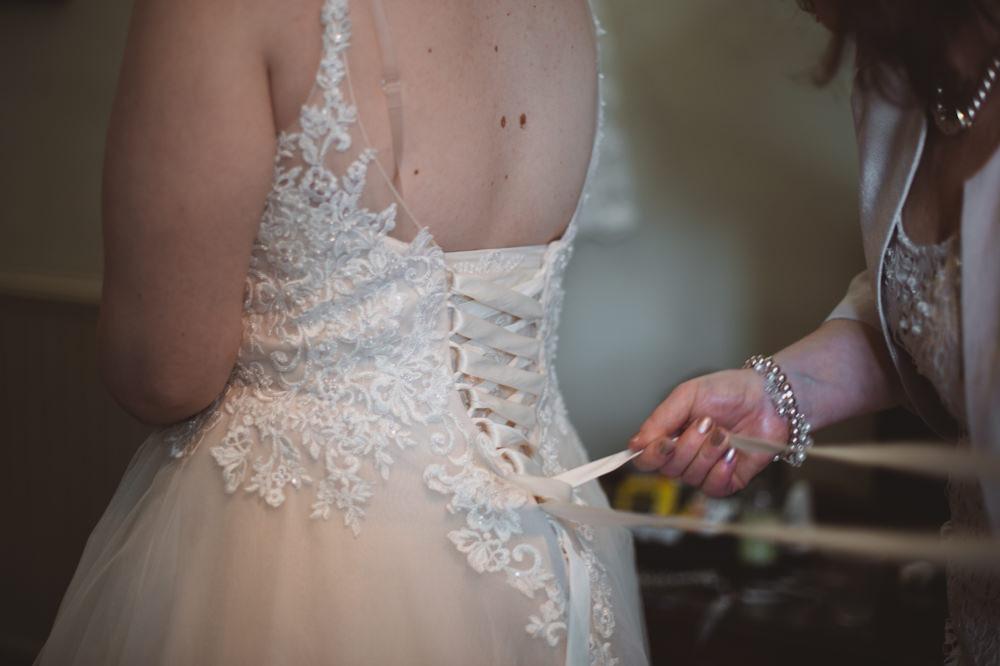 Short Dress Gown Bride Bridal Tea Length Lace Sleeves Buckinghamshire Railway Centre Wedding Sasha Weddings