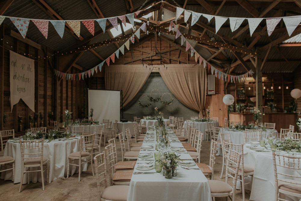 Decor Decoration Bunting Rustic Captains Wood Barn Wedding Megan Elle Photography