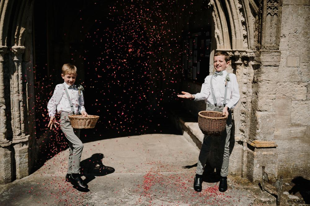 Ushers Braces Page Boy Confetti Casterley Barn Wedding Stuart Dudleston Photography