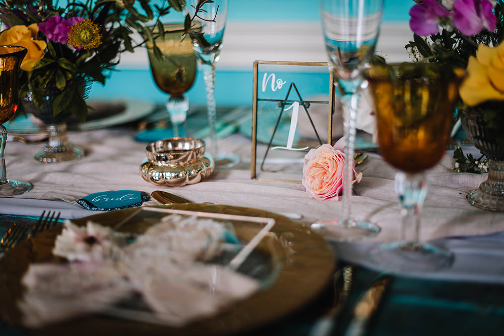 Table Name Number Clear Perspex Acrylic Glass Frame Calligraphy Coral Floral Wedding Ideas Birgitta Zoutman Photography