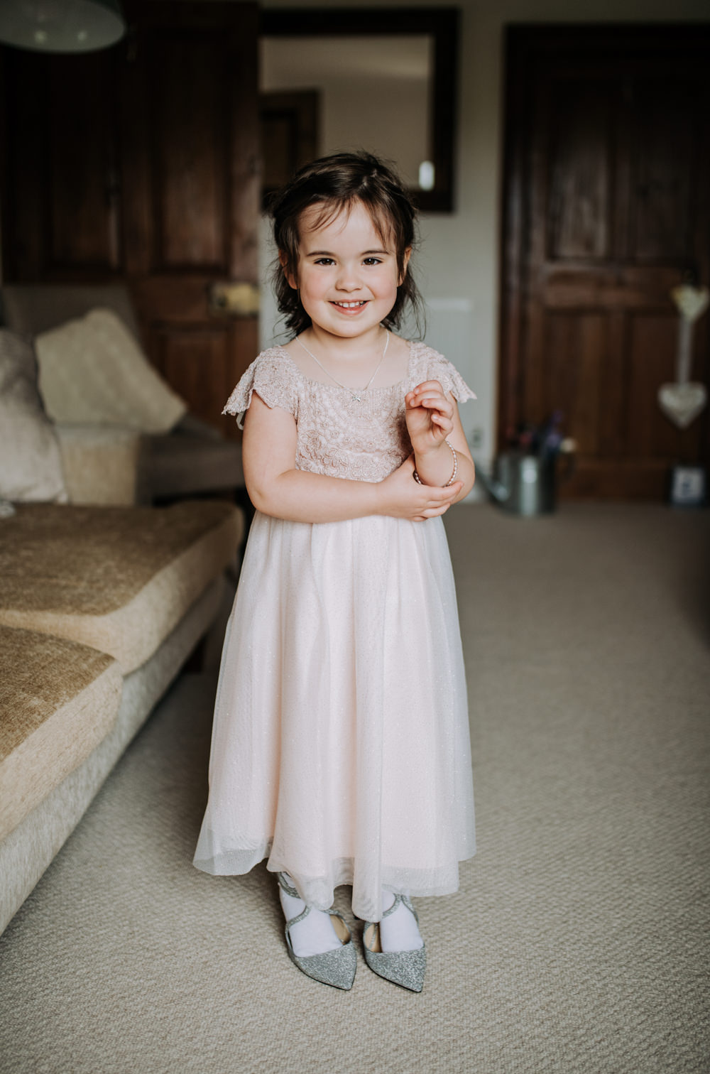 Flower Girl Dress Pink Deepdale Farm Wedding Kazooieloki Photography