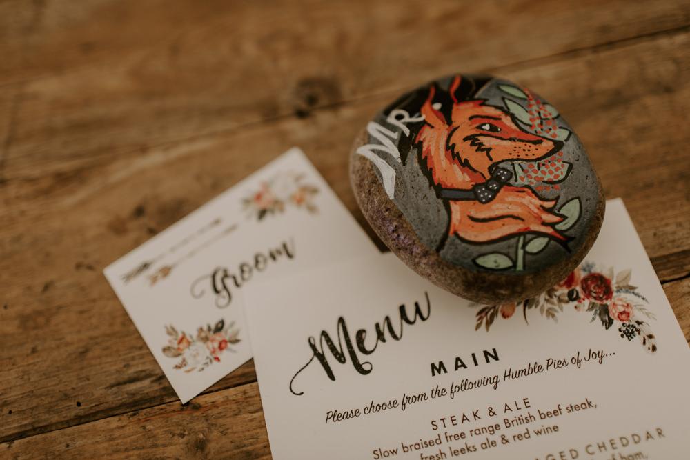 Painted Pebble Place Name Dreys Wedding Grace & Mitch Photo & Film
