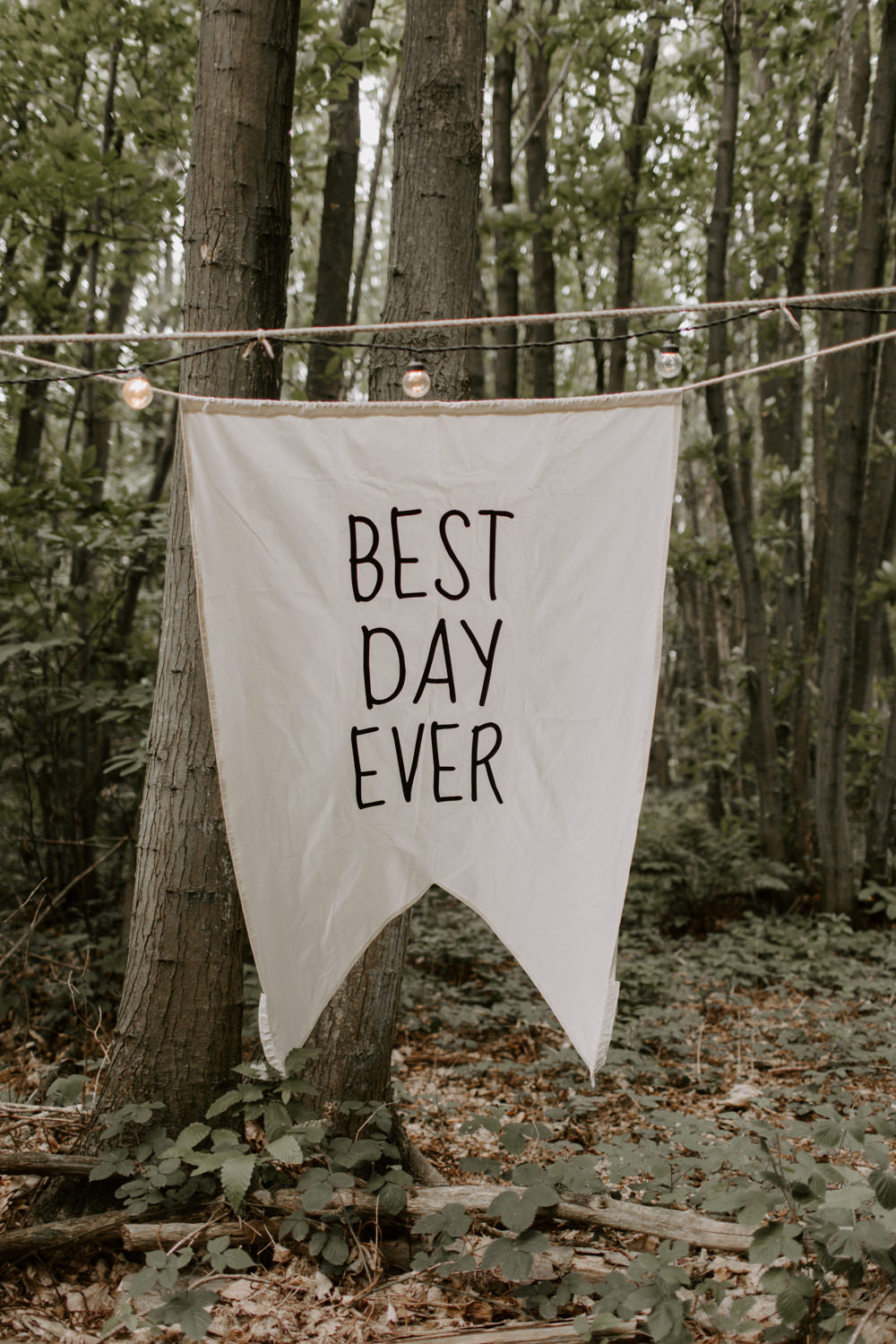 Best Day Ever Banner Sign Signage Signs Dreys Wedding Grace & Mitch Photo & Film