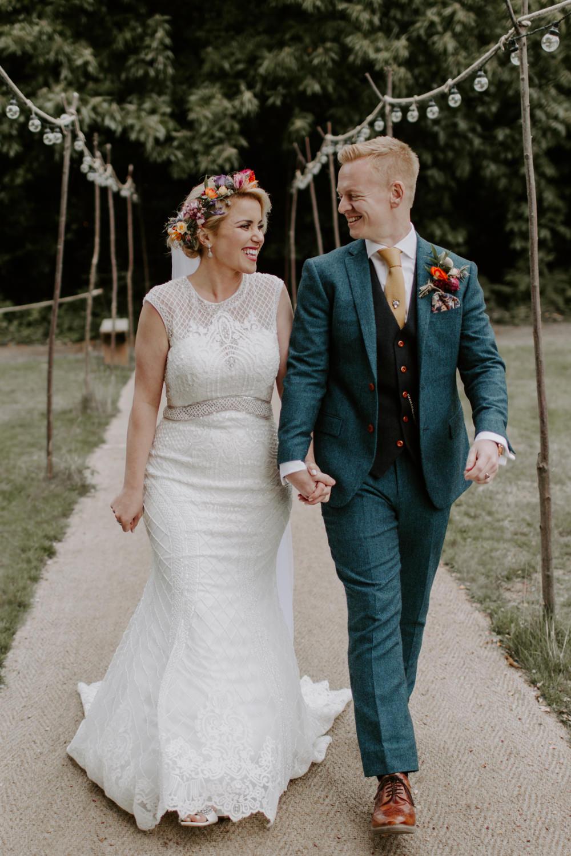 Festoon Lights Aisle Shepherd Crooks Dreys Wedding Grace & Mitch Photo & Film