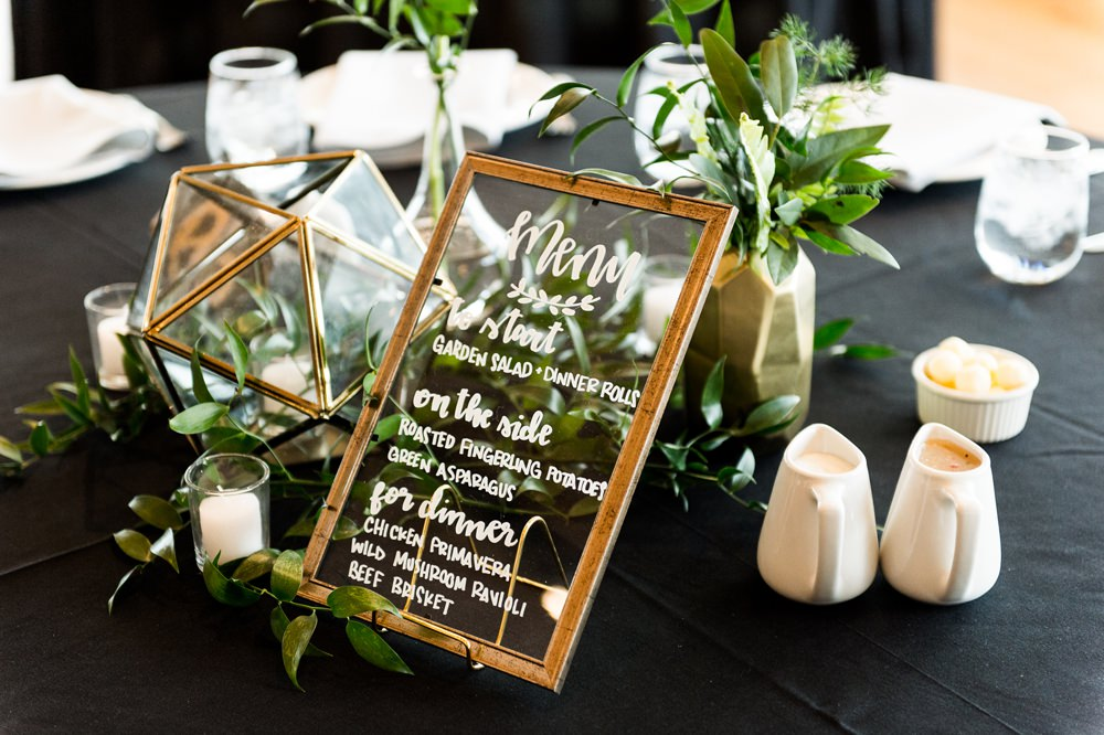 Centrepiece Terrarium Flowers Candles Greenhouse Michigan Wedding Jean Smith Photography