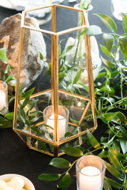 Terrarium Candle Greenery Foliage Greenhouse Michigan Wedding Jean Smith Photography