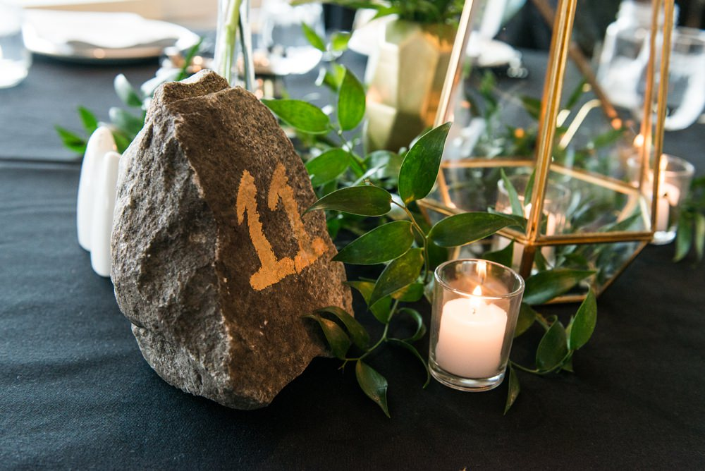 Rock Table Name Number Greenhouse Michigan Wedding Jean Smith Photography