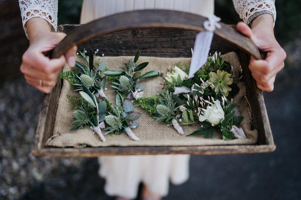 Buttonholes Thistle Greenhouse Wedding Kit Myers Photography