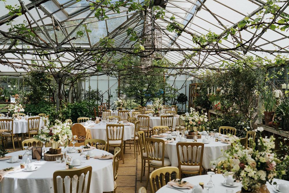 Glasshouse Reception Venue Greenhouse Wedding Kit Myers Photography