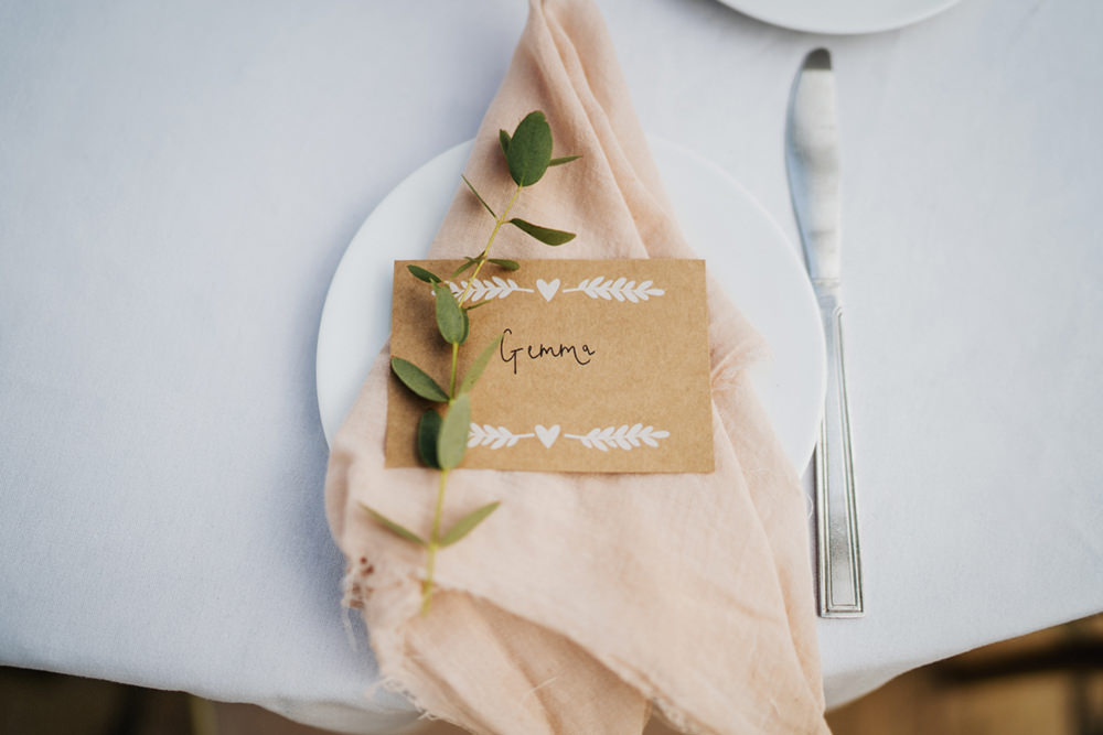 Napkins Blush Place Setting Decor Place Card Greenhouse Wedding Kit Myers Photography