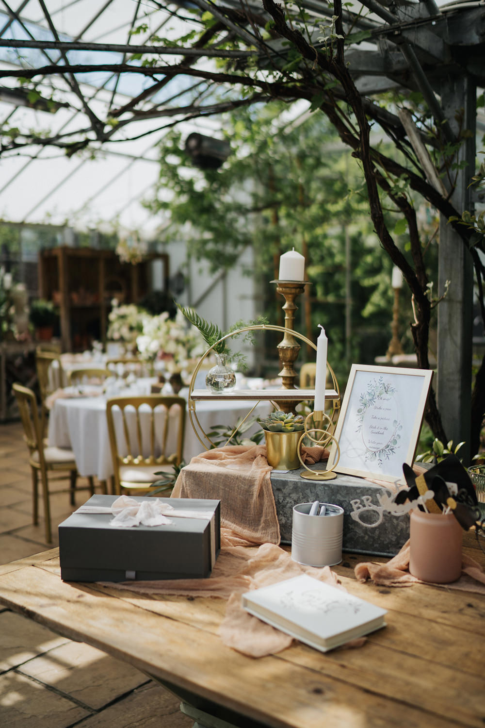 Guest Book Table Decor Greenhouse Wedding Kit Myers Photography