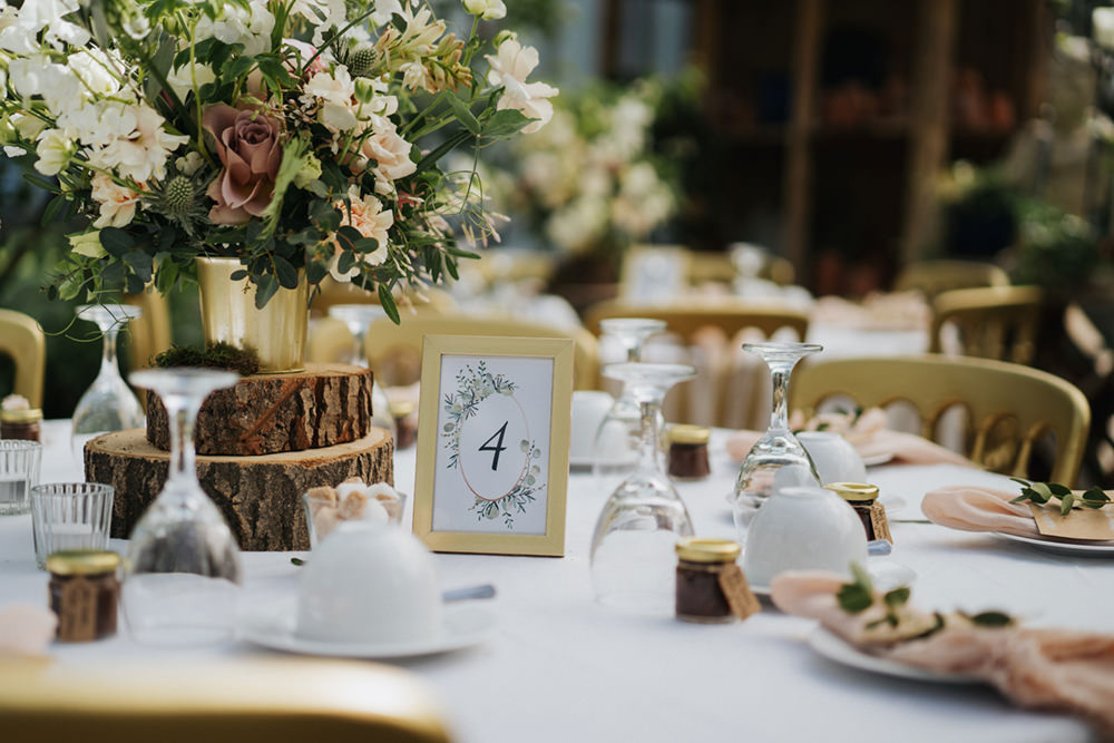 Gold Frame Table Numbers Greenhouse Wedding Kit Myers Photography