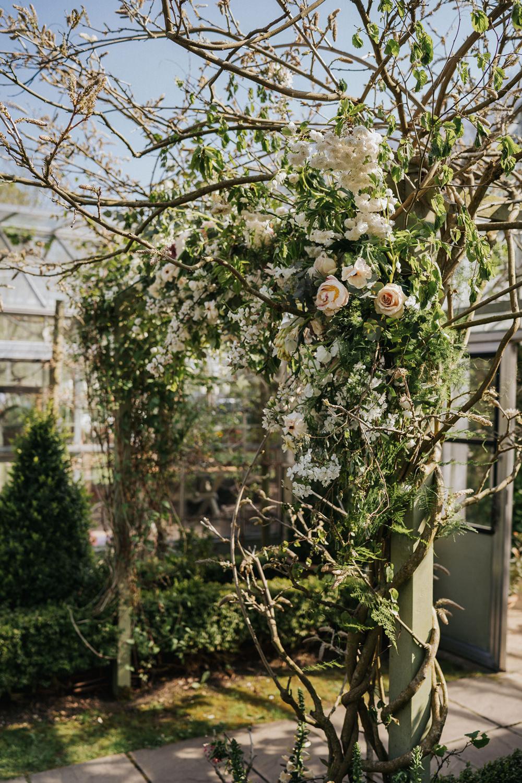 Flower Arch Backdrop Greenery Foliage Blush Pink Greenhouse Wedding Kit Myers Photography