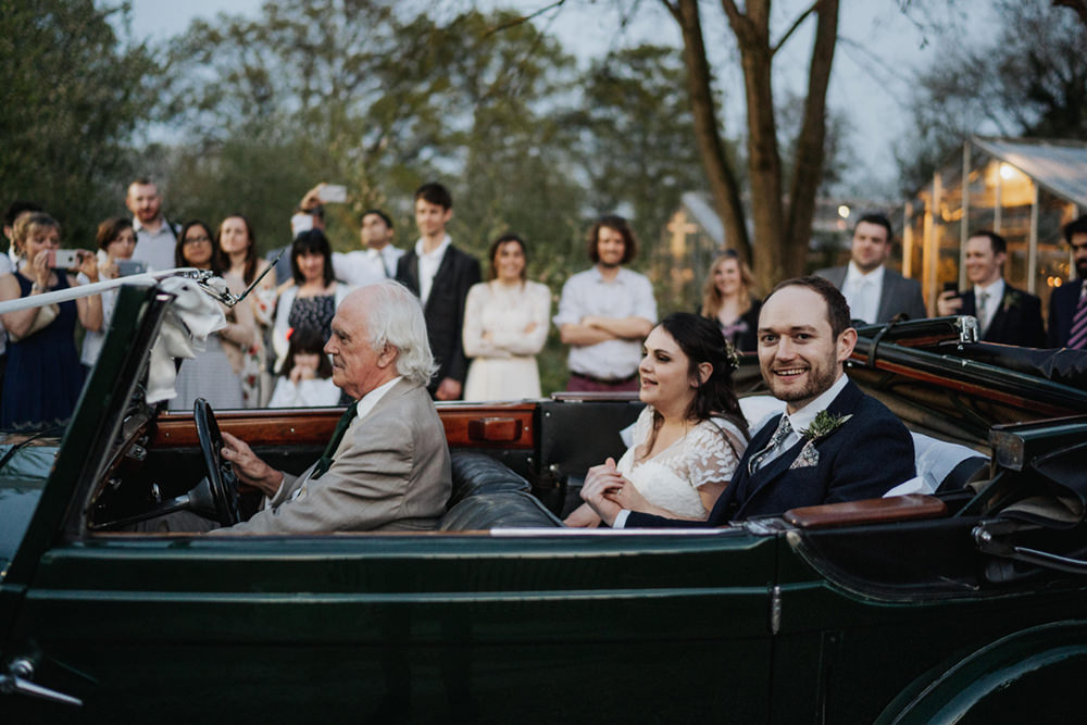 Classic Vintage Car Transport Exit Greenhouse Wedding Kit Myers Photography