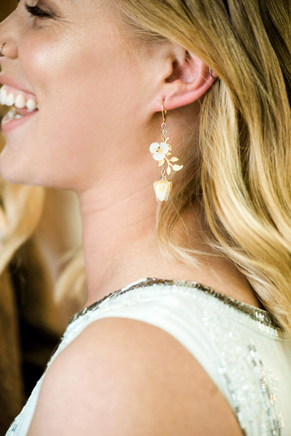 Bride Bridal Earrings Indie Wedding Ideas Kat Antos-Lewis Photography