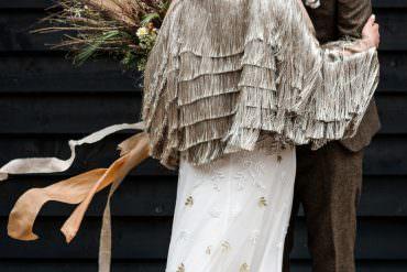 Indie Wedding Ideas with Pampas Grass & a Tassel Bridal Jacket