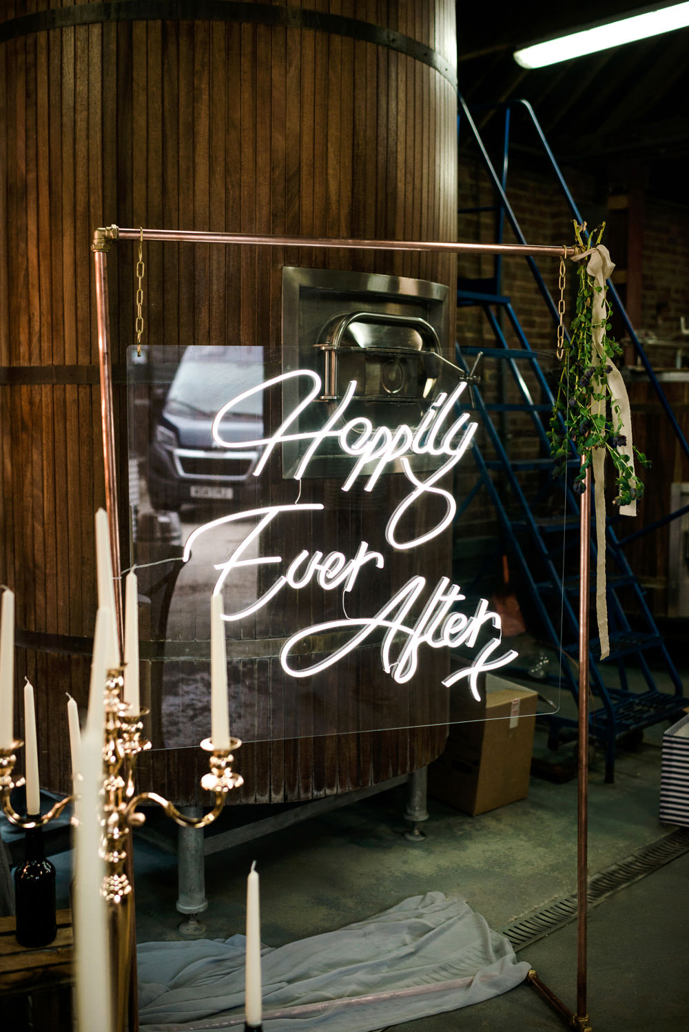 Neon Sign Signage Signs Indie Wedding Ideas Kat Antos-Lewis Photography